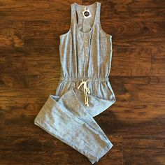 Linen Jumpsuit Available at Lush & Co. Boutique