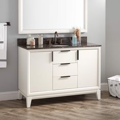 "48"" Talyn Mahogany Vanity for Undermount Sink - White"