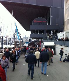 People at Genoa Boat Show 2013