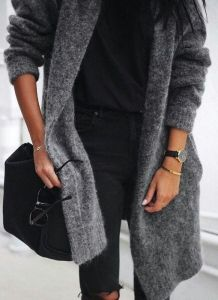 #fall #outfits / gray
