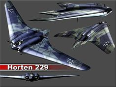 4 view rendering of the the Horten Ho 229