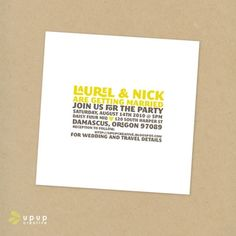 Our adorable wedding invitations!