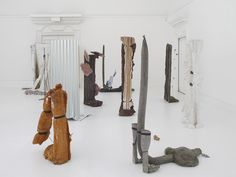 Michael Dean -Sic Glyphs Installation View South London Gallery 2015