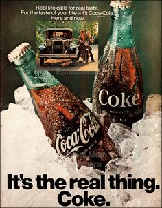 1970 Coca-Cola Ad // 1970's Coke Advertisement // It's the real thing ads // Vintage Coke Advertising // Old Coke Ads