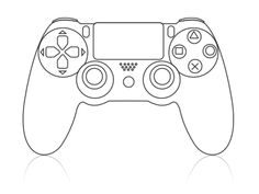 1422 Best Playstation Images On Video Games Video Game Ps4, Video Game Cakes, Video Game Party, Ps4 Cake, Playstation Cake, Cake Templates, Xbox One Controller, Xbox One Games, Stencil