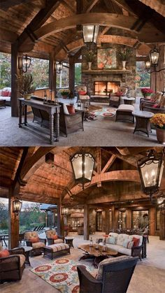 fireplace pit ideas one day soon it's my turn An time TTT TO THE TOP Backyard Pavilion, Backyard Patio Designs, Patio Ideas, Gazebo Ideas, Pergola Designs, Backyard Landscaping, Garden Ideas, Cabin Homes, Log Homes