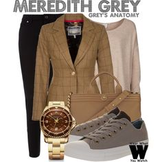 Inspired by Ellen Pompeo as Meredith Grey on Grey's Anatomy.