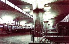 """Katowice Railway Station will be demolished. Katowice railway station, Katowice, Poland (Wacław Kłyszewski, Jerzy Mokrzyński and Eugeniusz Wierzbicki a.k.a. """"The Tigers"""", 1972)"""