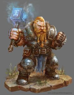 Dwarf warrior, barbarian, rune hammer, great armor, hair style, rpg, dnd, d&d, fantasy character, concept art Shadow of the Demon Lord_4 by Allnamesinuse on DeviantArt