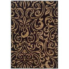 @Overstock - Machine-woven of durable polypropylene, this rug features a vibrant abstract pattern. Rich hues of ivory and brown complete this black floor rug.http://www.overstock.com/Home-Garden/Indoor-Black-Brown-Abstract-Area-Rug-5-x-76/5543428/product.html?CID=214117 $97.99