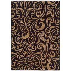 LIVING ROOM  Indoor Black/Brown Abstract Area Rug (7'10 x 10') - overstock.com