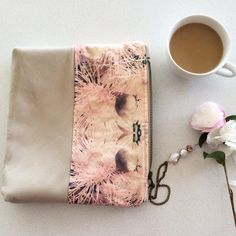 $159. How sweet is this clutch! Leather, silk and linen, can't get any better than that! It has 2 pockets inside to keep you organized. #shelleymccalldesign #clutchpurse#womensfashion #womensaccessories #accessories #nativeblossoms #australianflora #design #leather #linen #silk