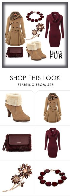 """""""#fauxfurcoats"""" by edin-levic ❤ liked on Polyvore featuring Anne Klein, J.TOMSON, Kate Spade and Annoushka"""