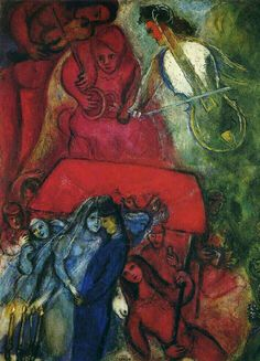 'The Wedding' - Marc Chagall.                                                                                                                                                                                 More