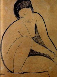 Amedeo Modigliani. Nu assis 1918