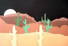 Desert Landscapes  4th grade.....add desert animals?