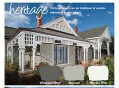 Federation painting schemes - traditional - Exterior - Other Metro - Haymes Paint White Exterior Paint, Exterior Paint Schemes, Grey Exterior, House Paint Exterior, Exterior Paint Colors, Exterior House Colors, Paint Colors For Home, Exterior Design, Paint Colours