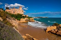 Costa de España Castillos Tamarit Tarragona Costa Dorada Cataluña Playa Naturaleza