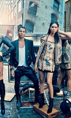 Olivier Roustieng and Chanel Iman for the September Issue of VOGUE.
