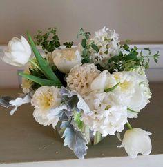 White tulips, hyacinths, peonies.   In bloom, ltd.