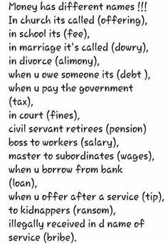 money synonyms