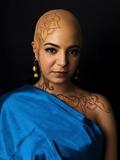 Henna and Bald Pate by Cole Riccio Makeup, via Flickr