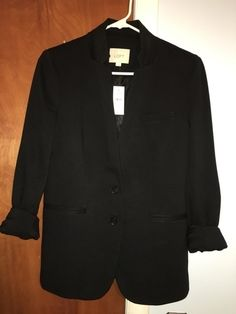 My Black Knit Blazer by Loft! Size 6 / S, Blazers for $$50.00. Check it out: http://www.vinted.com/womens-clothing/blazers/19881984-black-knit-blazer.