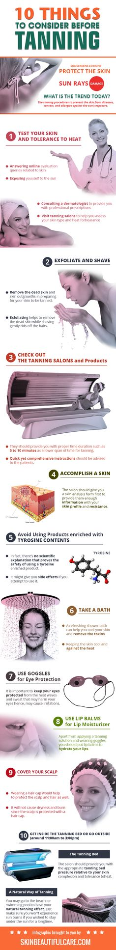 10 Things to Consider before Tanning (Infographic)