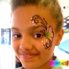 Girls stirking eye design by Glitter-Arty Face Painting, Bedford, Bedfordshire