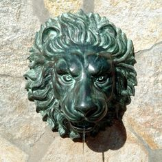 """Florentine Lion Head Spouting Wall Plaque Solid Bronze Garden Sculpture Statue Fountain Great for pools! by Artistic Solutions. $304.95. 12""""Wx8""""Dx14""""H. 12 lbs. Cast in the traditional lost wax bronze method. HAND CAST & HAND POLISHED IN USA. SOLID BRONZE. Cast in the traditional lost wax bronze method and piped for optional pond or fountain use. A timeless solid bronze sculpture, this piece of garden art adds a calming focal point combined with the peaceful sound of falling w..."""