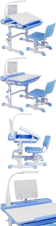 Desks 115750: Height Adjustable Childrens Desk And Chair Set For Kids Work Station Study Blue -> BUY IT NOW ONLY: $119.94 on eBay!