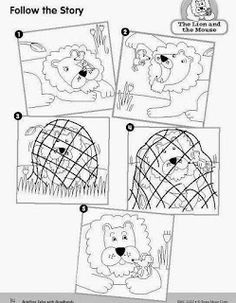 The Lion and the Mouse sequence map. Did this for a center