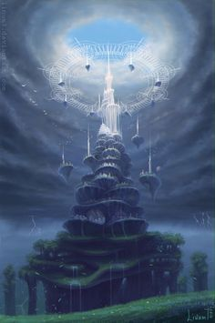 White tower by Linum7.deviantart.com on @DeviantArt