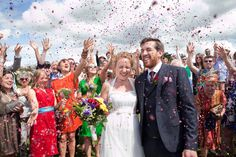 Festival Wedding at Splottsmoor Farm photographed by Emma Stoner - Beautiful photos of a wonderfully colourful outdoor wedding