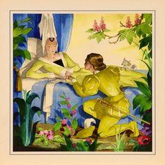Millon & Associés Mercier, Briar Rose, Z Arts, Book Illustration, Golden Age, Vintage Posters, Holiday Cards, Cool Pictures, Fairy Tales