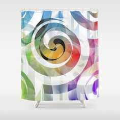 Buy Shower Curtains featuring Swing by Christine baessler. Made from 100% easy care polyester our designer shower curtains are printed in the USA and feature a 12 button-hole top for simple hanging.