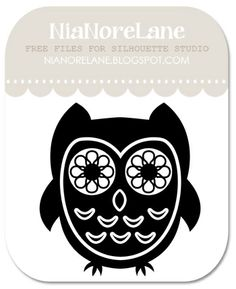 Nia Nore Lane: Plain little owl - paper cutting template