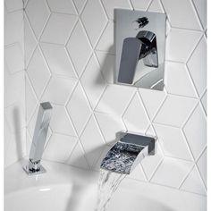 Price includes manual valve, bath filler spout and shower handset Bath Shower Mixer Taps, Bath Mixer, Bathroom Taps, Basin Mixer Taps, Modern Bathroom, Bathrooms, Bathroom Trends, Bathroom Inspo, Bathroom Ideas