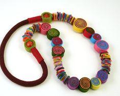 Boho hippie necklace-Purple necklace-Purple long by BeadABoo