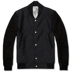 Thom Browne Varsity Jacket (Black Mohair & Black Nubuck)