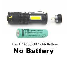 LED Flashlight Portable Mini ZOOM torchflashlight Use AA 14500 Battery Waterproof in life Lighting lantern Led Flashlight, Cob, White Light, Self Defense, Lanterns, Lights, Mini, High Low, Mobiles