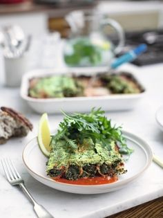 Super greens cannelloni by Jamie Oliver Super Greens, Jamie Olivier, Vegetarian Recipes, Healthy Recipes, Fusilli, The Fresh, Pasta Recipes, A Table, Dining