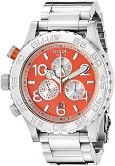 Nixon Men's A0372054 42-20 Chrono Analog Display Analog Quartz Watch ** Visit the image link more details.