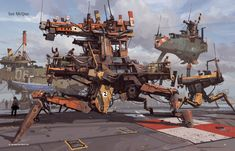 Ian McQue from Nuthin' But Mech 2 (via Concept Art World)