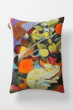 Inspiration colors. Anthropologie throw pillow.
