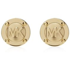 Michael Kors Logo Stud Earrings ($64) ❤ liked on Polyvore featuring jewelry, earrings, accessories, michael kors, brincos, initial jewelry, steel earrings, steel jewelry and logo earrings