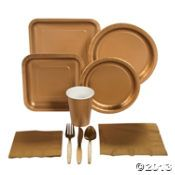 Gold tableware - for lego chima party and add images on my own.