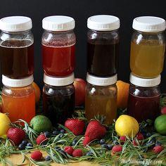 Natural Fruit & Herb Honey Syrups