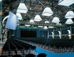 Multipurpose community #seating @ Palacassa Pavillon Theatre, Parma Fairgrounds, Parma, Italy.
