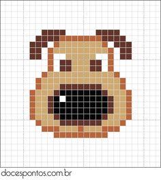 Hund / Dog pattern...  weitere schöne Motive zum Einhäkeln oder stricken auf meiner Extra Pinnwand ;O)